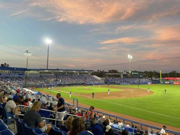 TD Ballpark, secção: 200, fila: 7, lugar: 11