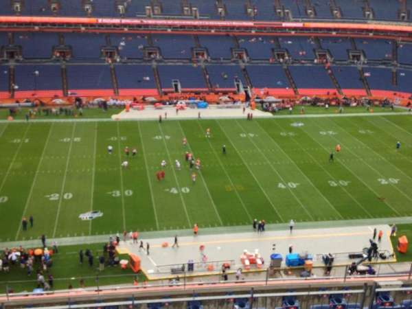 Empower Field at Mile High Stadium, secção: 511, fila: 7, lugar: 1