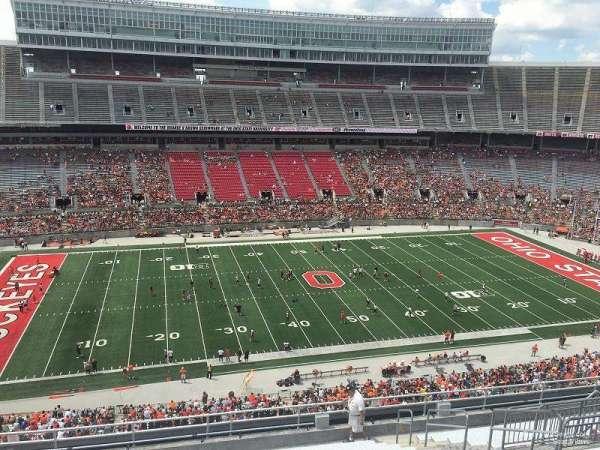 Ohio Stadium, secção: 24C, fila: 38, lugar: 14