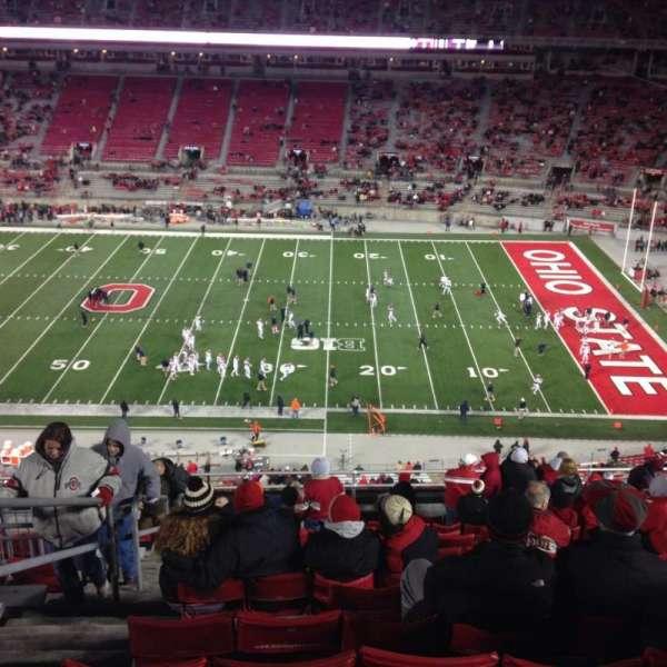 Ohio Stadium, secção: 18c, fila: 16, lugar: 3