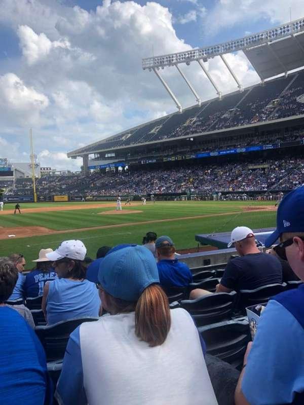 Kauffman Stadium, secção: 119, fila: F, lugar: 1