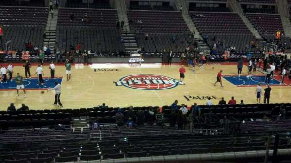 The Palace of Auburn Hills, secção: 101, fila: k, lugar: 010
