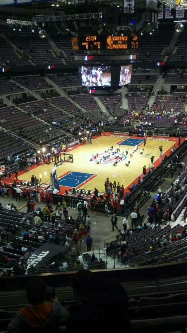 The Palace of Auburn Hills, secção: 206, fila: 5, lugar: 001