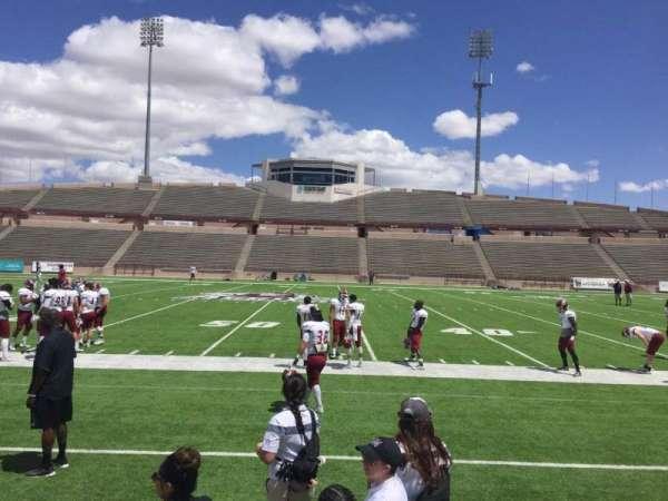 Aggie Memorial Stadium, secção: G, fila: 1, lugar: 11