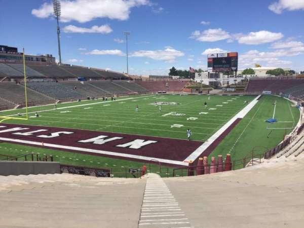 Aggie Memorial Stadium, secção: X, fila: 37, lugar: 18