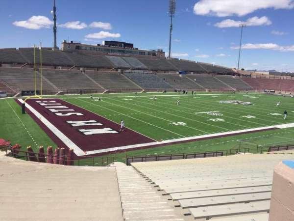 Aggie Memorial Stadium, secção: X, fila: 18, lugar: 36