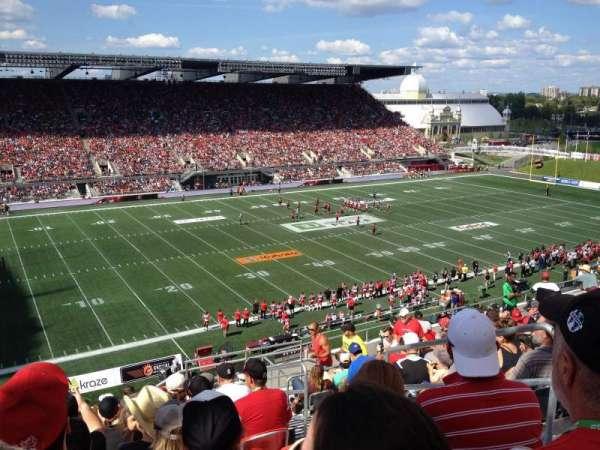 TD Place Stadium, secção: WW, fila: 15, lugar: 3