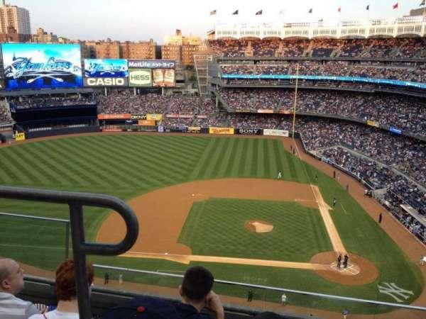 Yankee Stadium, secção: 423, fila: 3, lugar: 19