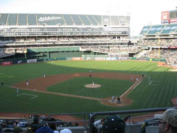 Oakland Coliseum, secção: 219, fila: 8, lugar: 7