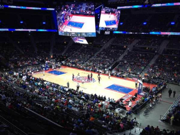 The Palace of Auburn Hills, secção: 214, fila: 1, lugar: 4