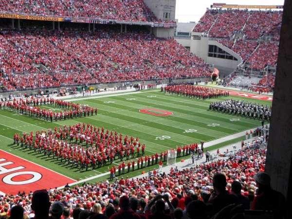 Ohio Stadium, secção: 9B, fila: 7, lugar: 14
