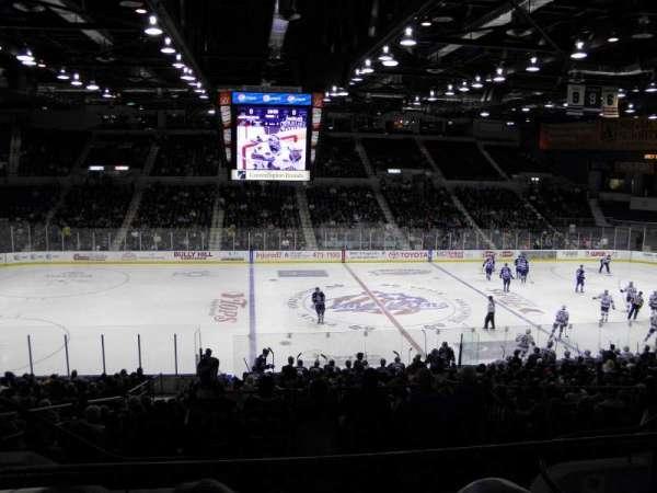 Blue Cross Arena, secção: 223, fila: E, lugar: 9