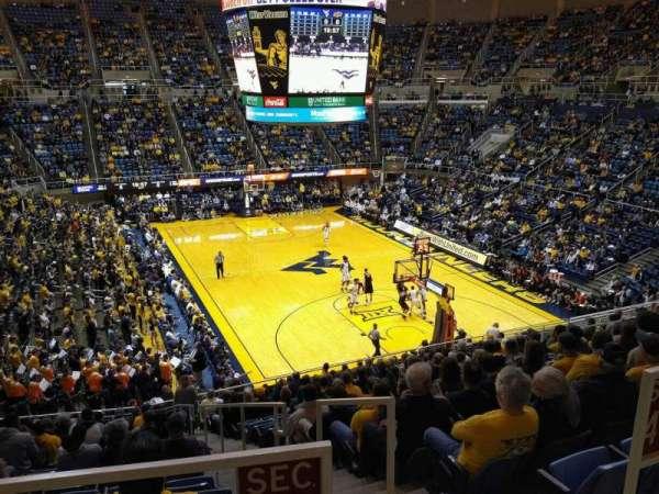 WVU Coliseum, secção: 70, fila: A, lugar: 3