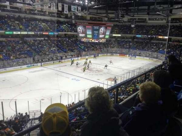 Mohegan Sun Arena at Casey Plaza, secção: 220, fila: B, lugar: 13