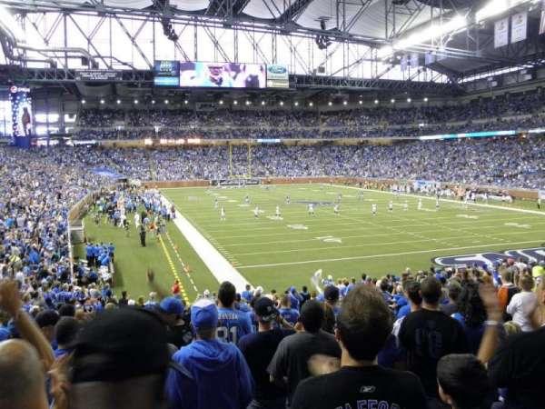 Ford Field, secção: 114, fila: 23, lugar: 8