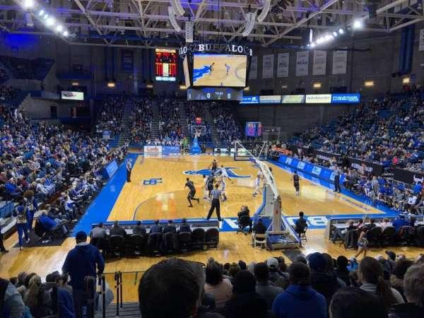 Alumni Arena (University at Buffalo), secção: 119, fila: O, lugar: 8