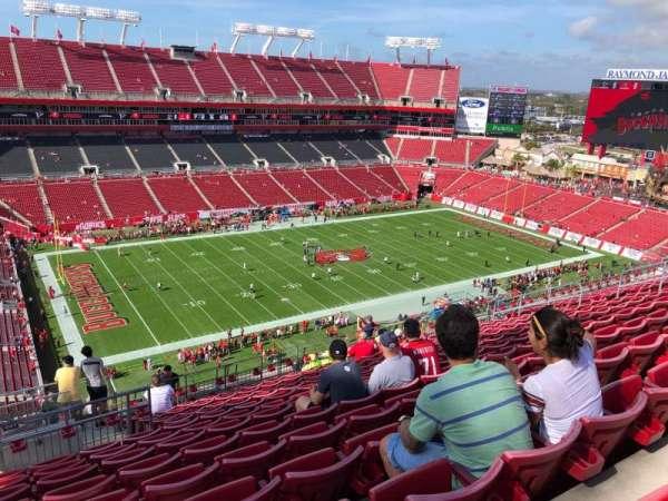 Raymond James Stadium, secção: 331, fila: N, lugar: 1