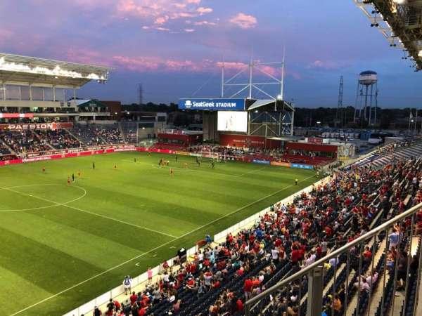 SeatGeek Stadium, secção: 209, fila: 3, lugar: 9