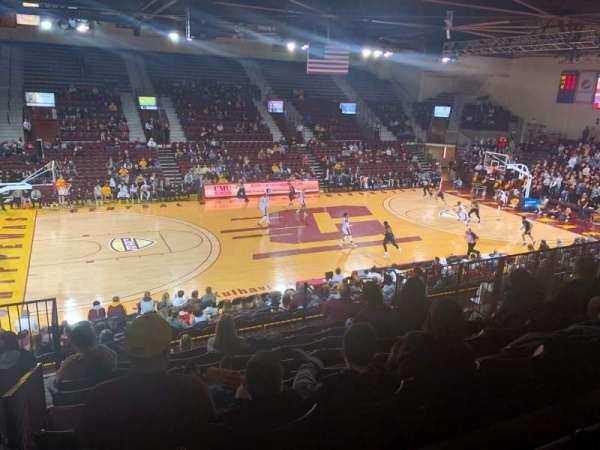 McGuirk Arena, secção: 106, fila: S, lugar: 14