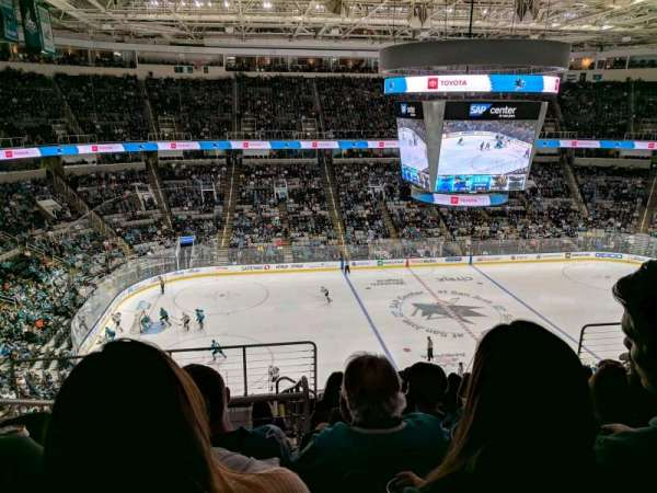 SAP Center, secção: 202, fila: 9, lugar: 19