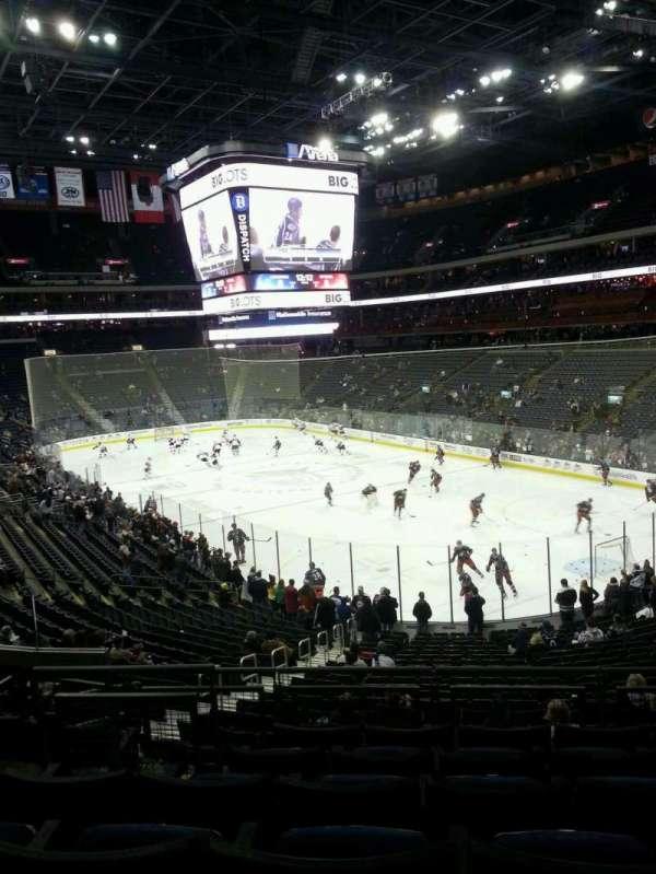 Nationwide Arena, secção: 122, fila: FF, lugar: 10