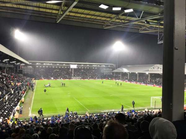 Craven Cottage, secção: P6, fila: MM, lugar: 139