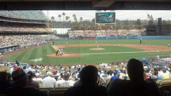 Dodger Stadium, secção: 8FD, fila: y, lugar: 12