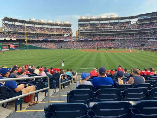 Nationals Park, secção: 104, fila: P, lugar: 15