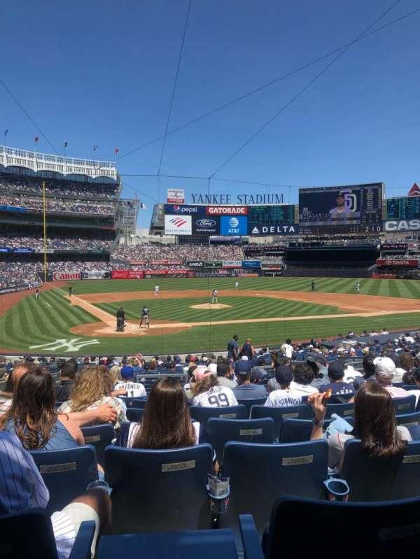 Yankee Stadium, secção: 118, fila: 13, lugar: 8