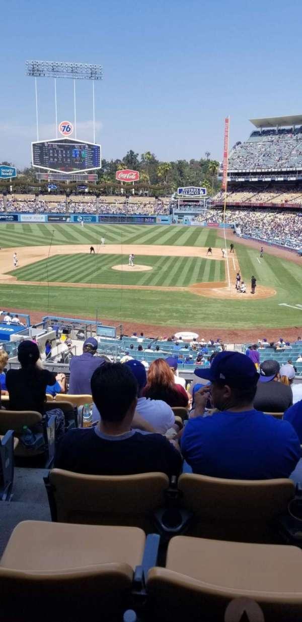 Dodger Stadium, secção: 119LG, fila: H, lugar: 6
