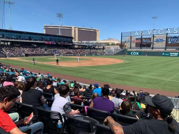 Las Vegas Ballpark, secção: 104, fila: N, lugar: 19-20