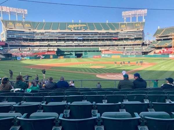 Oakland Coliseum, secção: 118, fila: 20, lugar: 5-10