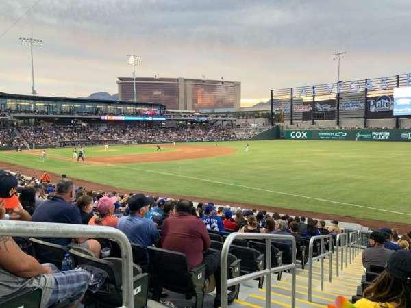 Las Vegas Ballpark, secção: 102, fila: R, lugar: 1-6