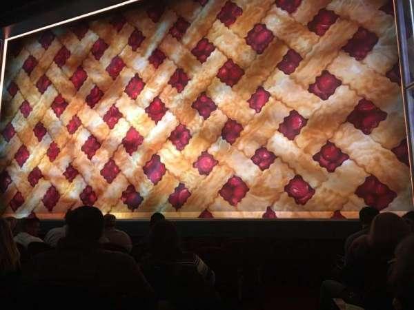 Brooks Atkinson Theatre, secção: Orchestra R, fila: E, lugar: 2