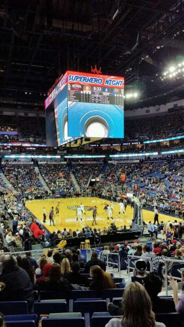 Smoothie King Center, secção: 108, fila: 19, lugar: 5