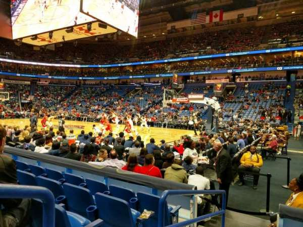 Smoothie King Center, secção: 110, fila: 8, lugar: 5
