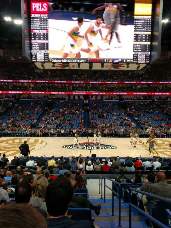 Smoothie King Center, secção: 113, fila: 14, lugar: 1