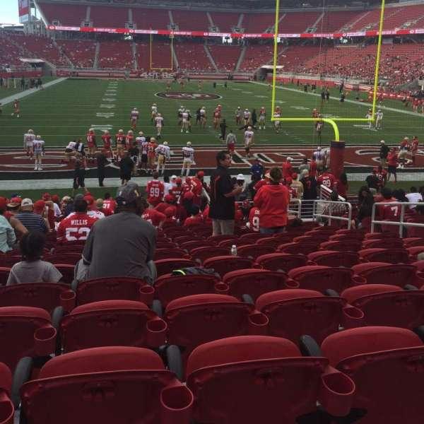 Levi's Stadium, secção: 128, fila: 16, lugar: 8