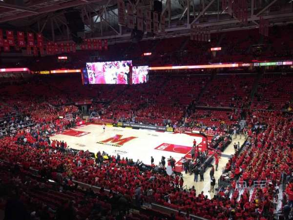 Xfinity Center (Maryland), secção: 216, fila: 1, lugar: 2