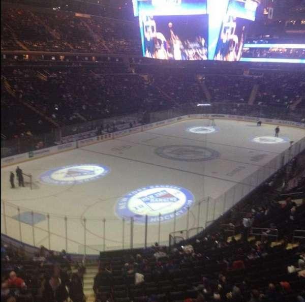 Madison Square Garden, secção: 220, fila: 1, lugar: 1
