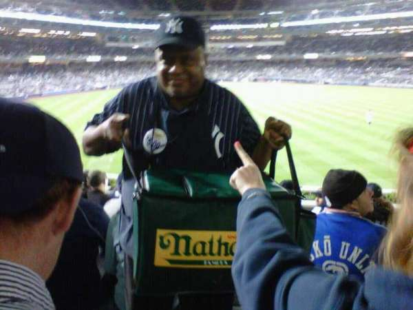 Yankee Stadium, secção: 238, fila: 21, lugar: 8