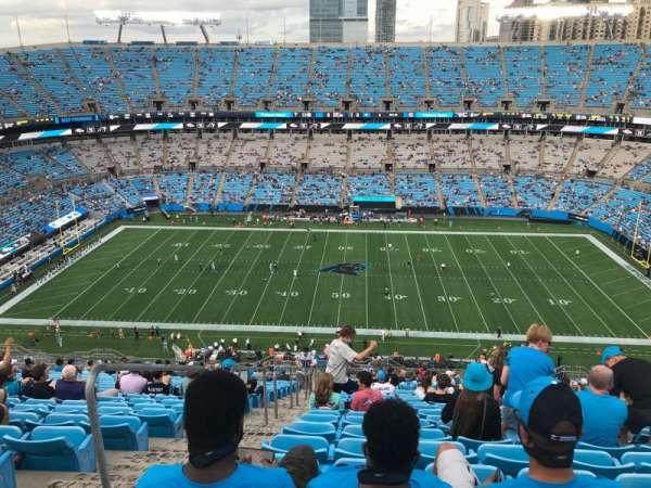 Bank of America Stadium, secção: 541, fila: 25, lugar: 23