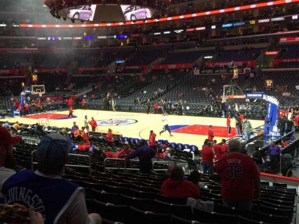 Staples Center, secção: 118, fila: 17, lugar: 1