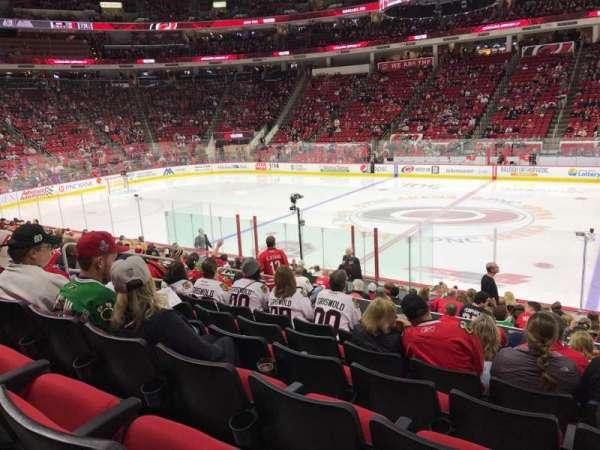 PNC Arena, secção: 118, fila: Q, lugar: 5