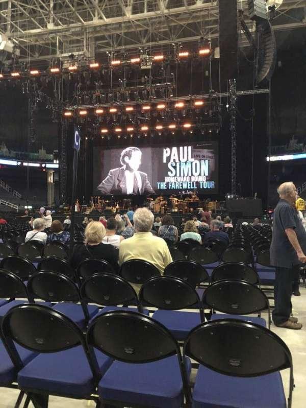 Greensboro Coliseum, secção: Floor C, fila: 25, lugar: 12