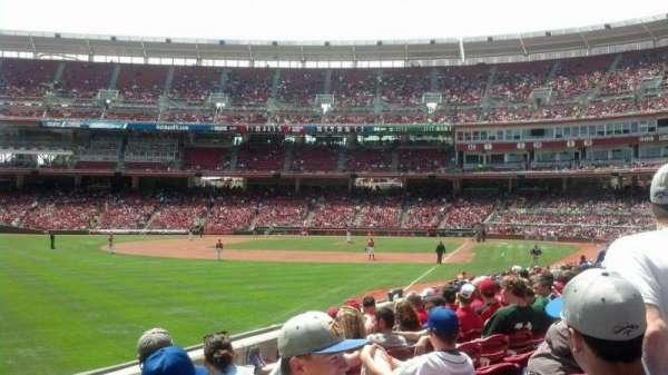Great American Ball Park, secção: 108, fila: V, lugar: 1