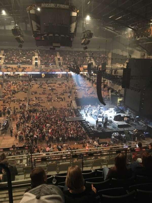 Mizzou Arena, secção: 215, fila: 6, lugar: 14