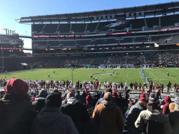 Lincoln Financial Field, secção: 121, fila: 22, lugar: 18