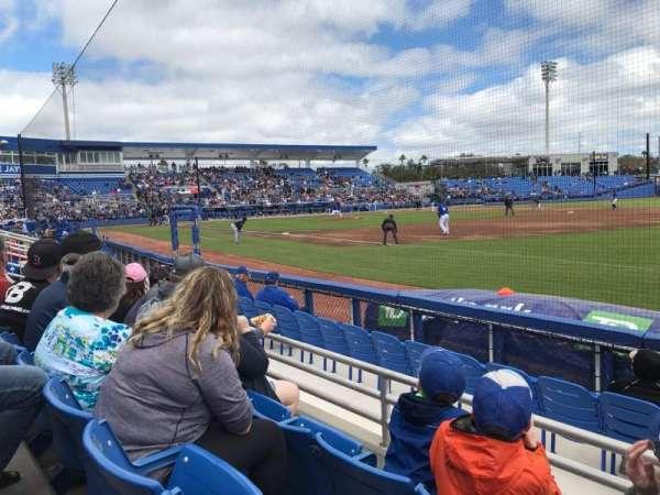 TD Ballpark, secção: 101, fila: 3, lugar: 7