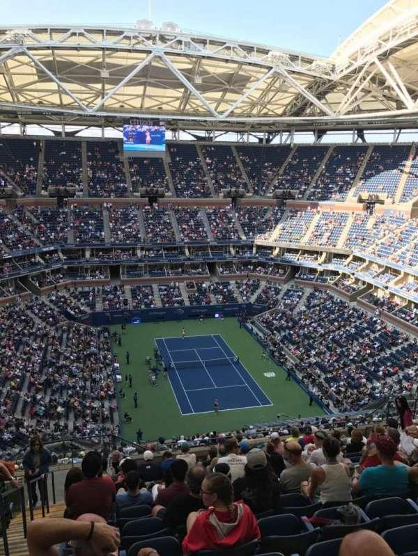 Arthur Ashe Stadium, secção: 340, fila: M, lugar: 18